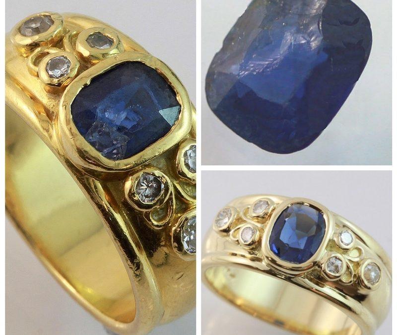 Sapphire ring repair