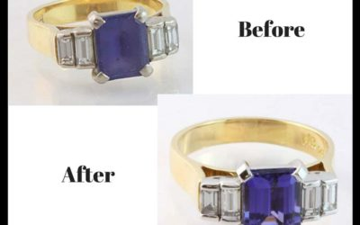 Tanzanite ring restoration
