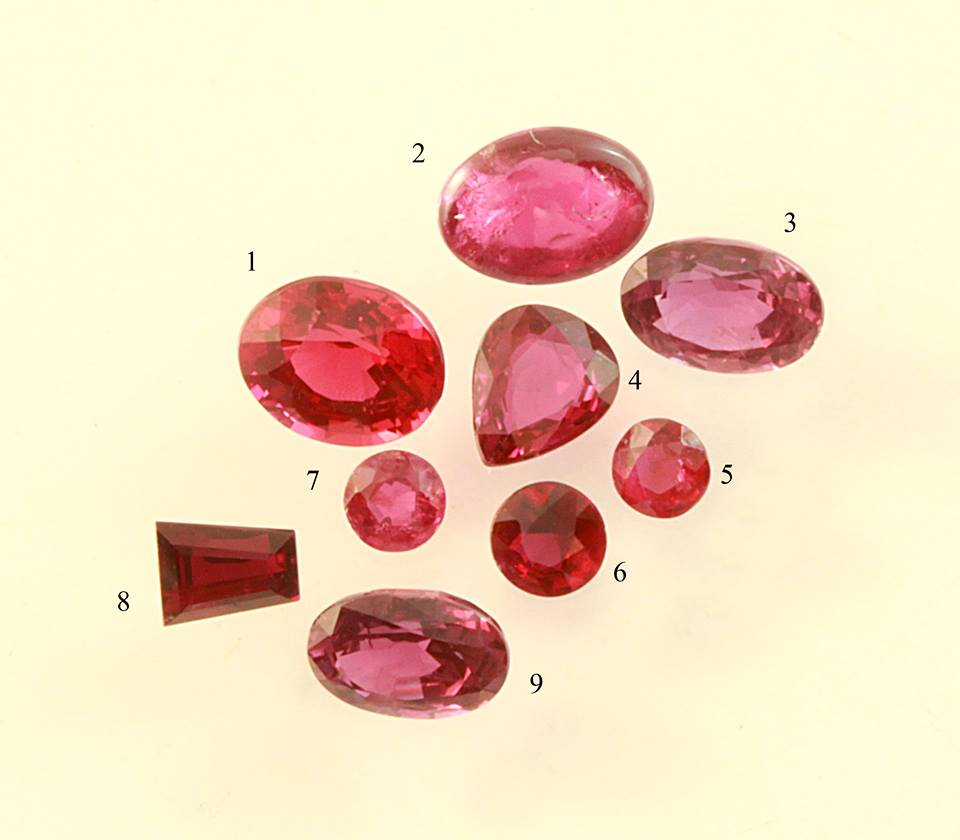 natural or synthetic ruby, guess the synthetic ruby, ruby shapes, rubies