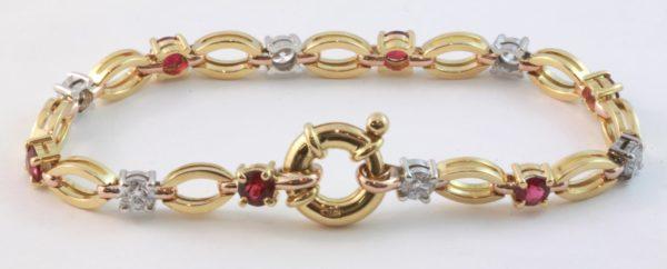 ruby and diamond bracelet, Abrecht Bird Jewellers, Quality hand made jewellery, unique jewellery designs, ruby bracelet