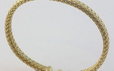 118466 : Woven Gold Bangle