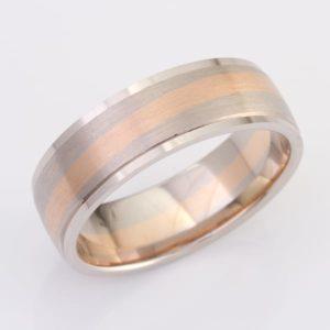 White Gold, Titanium & Rose Gold wedding ring