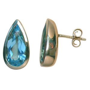 blue topaz, blue topaz earrings, blue topaz studs, topaz studs, topaz earrings, Abrecht Bird, Abrecht Bird Jewellers,