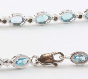 blue topaz bracelet, topaz bracelet, Abrecht Bird, Abrecht Bird Jewellers, blue stone bracelet