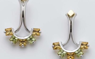 115478 : Citrine and Peridot Drop Studs