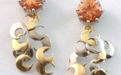 115496 : Mandarin Garnet Drop Earrings