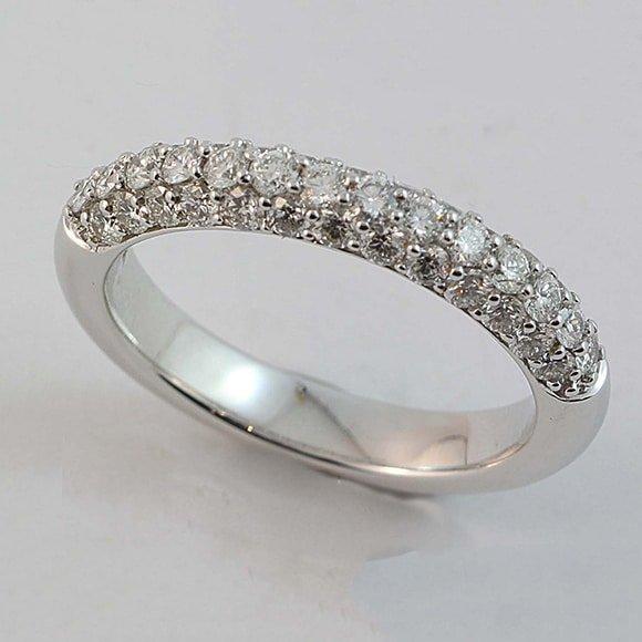 Pavé set diamond wedding ring