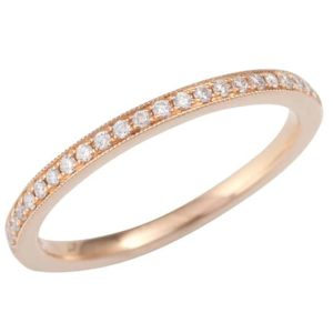 rose gold diamond wedding ring, Rose gold Full circle pavé set wedding ring