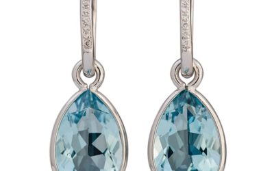 119186 : Topaz & Diamond Drop Earrings
