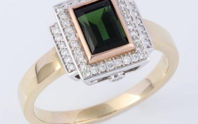 119640 : Tourmaline & Diamond Ring