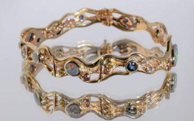 b112 : Multi Gemstone Designer Bracelet