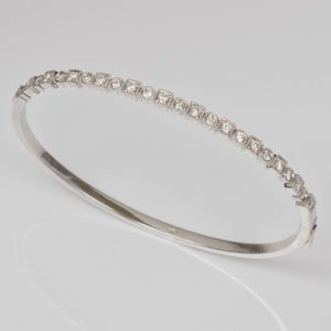 Diamond bangle, Art Deco bangle, diamond hinged bangle, hinged bangle,