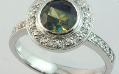 c119075 : Parti Sapphire & Diamond Ring