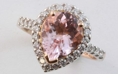 c120169 : Morganite & Diamond Ring