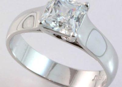 112096 - Platinum Solitaire Diamond Engagement Ring