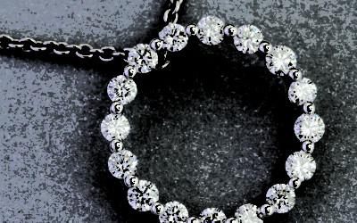 115908 : Diamond Circle Pendant