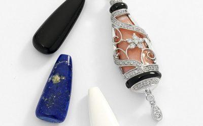 116146 : Multi-Stone Diamond Pendant