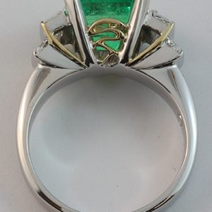 emerald and diamond ring, Abrecht Bird jewellers, Abrecht Bird, custom made jewellery, emerald ring, Greg John, Greg John designs