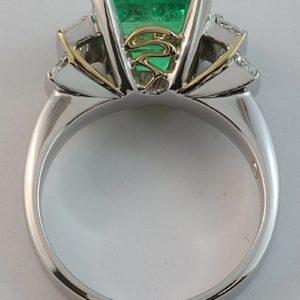 emerald and diamond ring, Abrecht Bird jewellers, Abrecht Bird, custom made jewellery, emerald ring, Greg John, Greg John designs