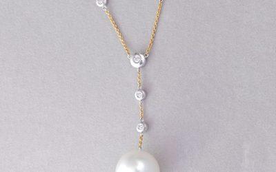 118984 : South Sea Pearl & Diamond Necklace