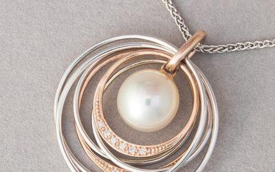 118985 : South Sea Pearl & Diamond Multi-Ring Pendant