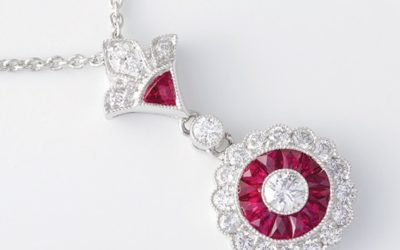 119064 : Platinum Ruby & Diamond Pendant
