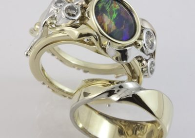 119351 - Opal & Diamond Ring Set