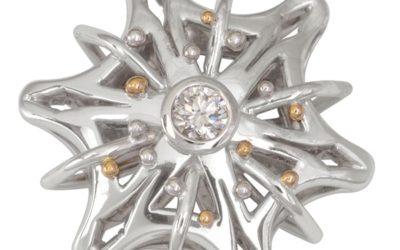119403 : Diamond Snowflake Pendant