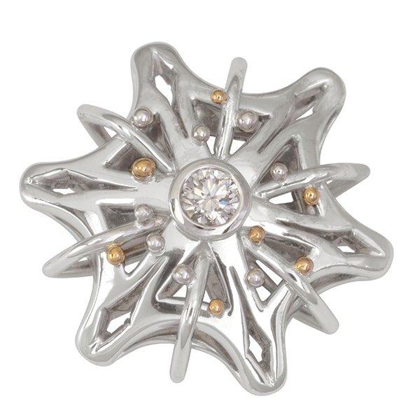119403 - Diamond Snowflake Pendant
