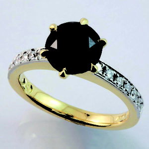 treated diamonds, black diamond engagement ring, black diamond ring designs, hand made black diamond ring, custom made jewellery