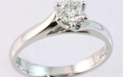 119561 : Solitaire Diamond Engagement Ring
