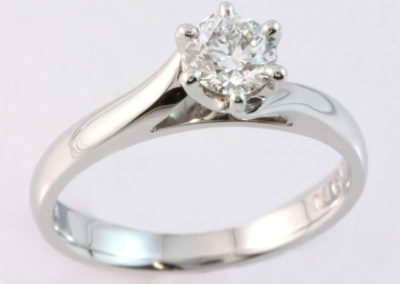 six claw solitaire, solitaire engagement ring, custom made engagement ring,