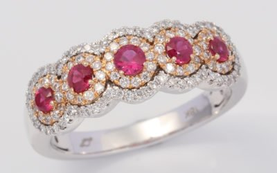 119631 : Ruby & Diamond Ring
