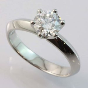 six claw solitaire ring, diamond engagement ring,