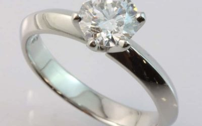 119680 : Platinum Solitaire Diamond Engagement Ring