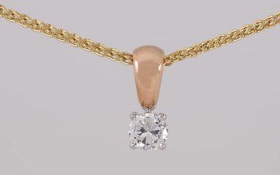 120010 : Solitaire Diamond Pendant