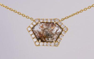 120046 : Diamond 'Slice' Pendant
