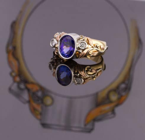 Custom designed Tanzanite ring