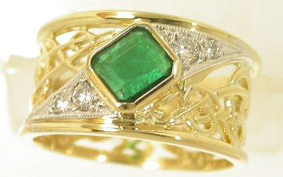 c109_ID7918 : Emerald & Diamond Ring