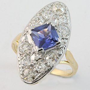 oval sapphire and diamond ring, hand made sapphire ring, ellipse sapphire ring, Ceylon sapphire ring, quality jewellery, custom made jewellery, hand made jewellery, Abrecht Bird, Abrecht Bird Jewellers