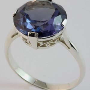 sapphire solitaire ring, round sapphire ring, white gold sapphire ring, Abrecht Bird, Abrecht Bird Jewellers, custom made jewellery, quality hand made jewellery