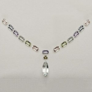 A lovely set of un-treated sapphires awaiting design & creation into a necklet