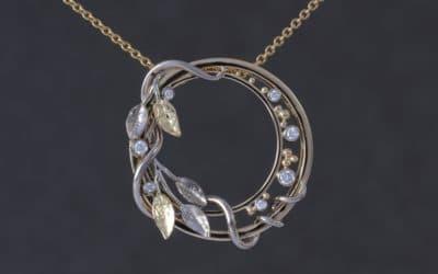 Bespoke handmade diamond pendant