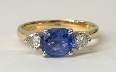 Custom Designed Sapphire & Diamond Ring