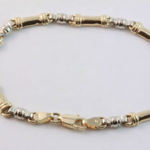 two tone bracelet, gold bracelet, Abrecht Bird, Abrecht Bird Jewellers, bracelets, bar link bracelet