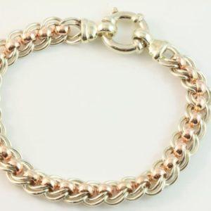 Gold belcher bracelet, Abrecht Bird, Abrecht Bird Jewellers, belcher bracelet, two tone bracelet, bracelet, rose gold bracelet, white gold bracelet