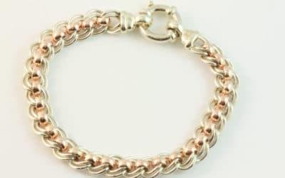 b120249 : Gold Belcher Bracelet