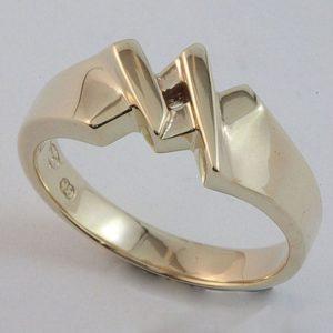 Masonic 'King' ring in 9 carat yellow gold