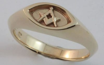 107: Gentleman's Masonic Ring