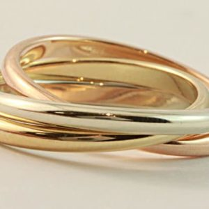 Russian Wedding Ring, mens wedding ring, Abrecht Bird Jewellers, tri coloured ring, tri coloured wedding ring, three tone wedding ring, white gold wedding ring, rose gold wedding ring, yellow gold wedding ring